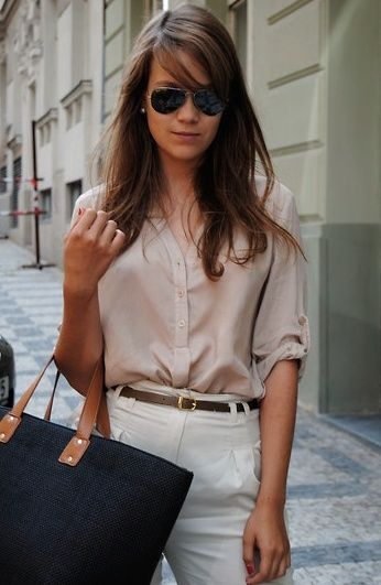 "A great outfit for a ""not so casual"" casual Friday. -Love ..."