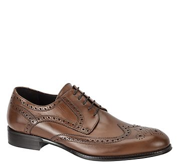 KRESSLER WINGTIP - Tan Italian Calfskin from Johnston & Murphy