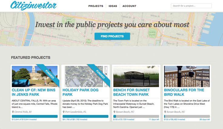 Citizinvestor: crowdfunding para projetos comunitários
