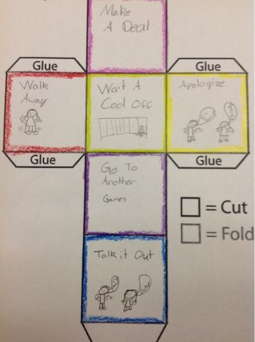 Talk Blocks-inspired activity - students make their own blocks, can be used for problem-solving, stress, anger, etc.