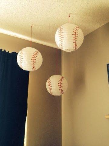 Baseball Nursery Baseball lanterns sports baby room boys sports nursery decorations