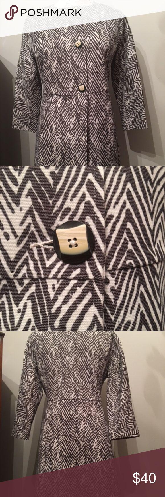 Cabi Zig Zag Jacket Worn once,  geometric print CAbi Jackets & Coats Blazers