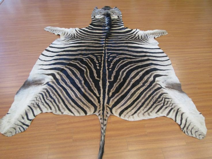 Non felted zebra skin rug #interiordesign #hunting #interiordecor #zebraskin #zebraprint #africandecor #zebraskinrug