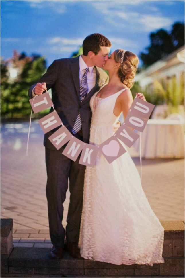 13 Sweet Wedding Thank You Card Shots You Should Ask Your Photog For via Brit + Co