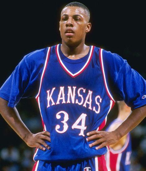 Western Style Typeface On University Of Kansas Basketball Jerseys Paul Pierce
