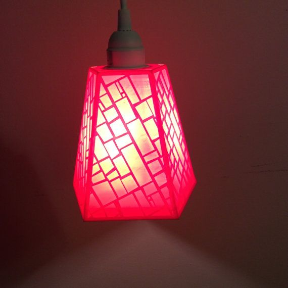 Patterned 3D Printed Pendant Lamp by NathanDavis3dPrint on Etsy