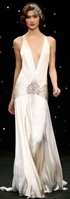 Inspiration pour un mariage Gatsby : la robe de mariée