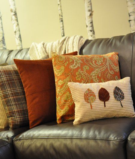 $10 for several Fall Pillow Covers - I think I will be making the leaf one... cute!