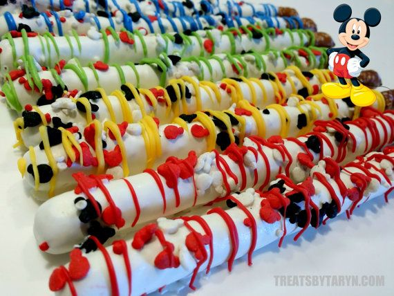MICKEY Clubhouse chocolate covered pretzels by TreatsByTaryn