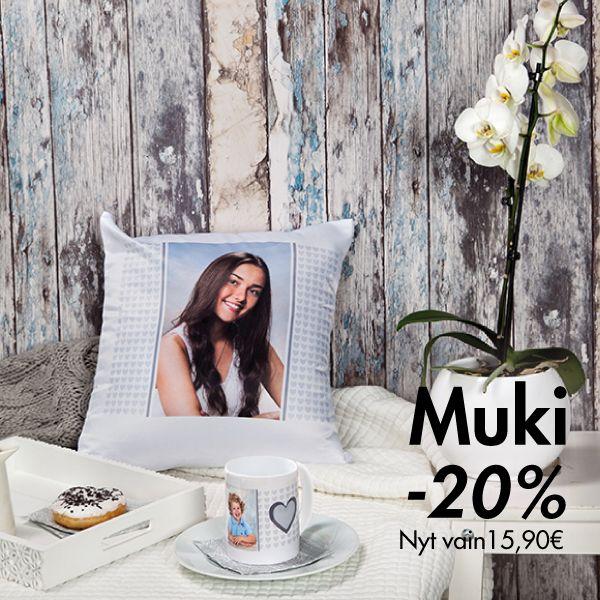 Hyvää viikonloppua! Hanki tänään herkut, ja nauti leppoisasta lauantaiaamusta.  P.S. Muki nyt -20%, vain 15,90€. | Tarjous voimassa 26.4.2016 asti. | www.kuvaverkko.fi  | #viikonloppu #joutilaisuus #herkutellaan #muki #kuvatuote