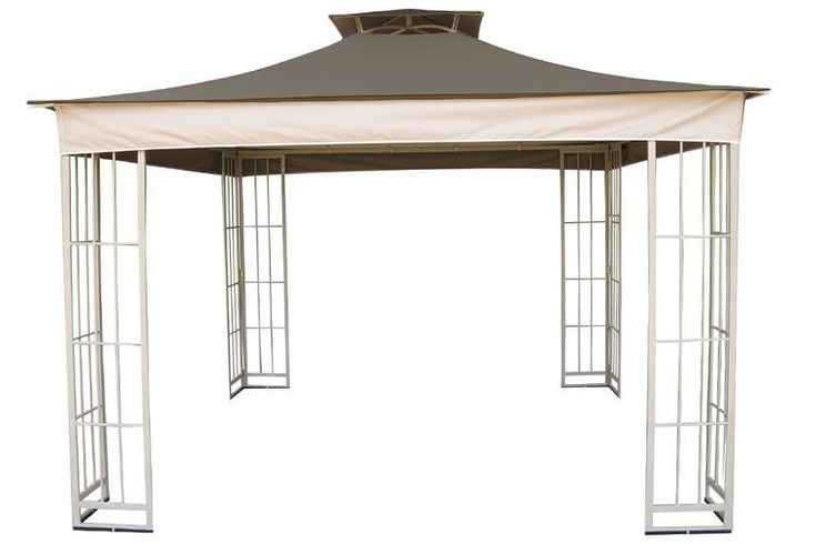 Garden Treasures 10' x 10' gazebo with a new replacement canopy (with light trim)