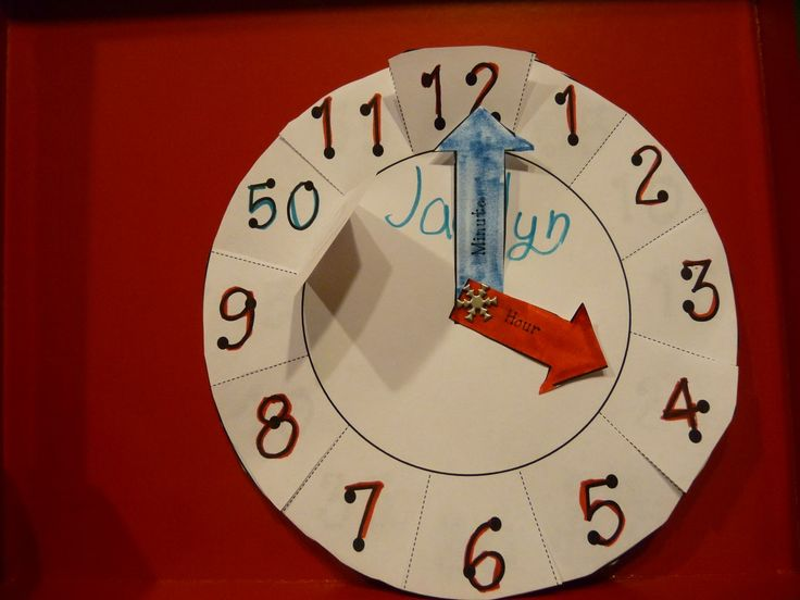 Here's another paper plate clock. This one comes with a reproducible (clock outline and hands).