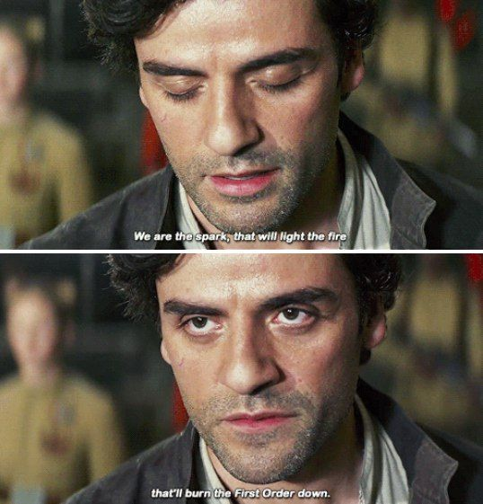 - We are a spark that will light a fire, because of which the First Order will burn.  #starwars