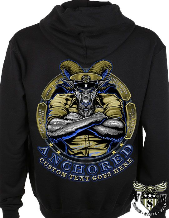 US Navy Chief Anchored Military Hoodie