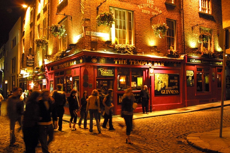 Temple Bar - Dublin, Ireland: This is on my list!  I'd love to take a trip to Ireland and Dublin on St. Patty's day and visit Temple Bar.  I've heard they don't have green beer here.  Do they?  I'd like to find out.