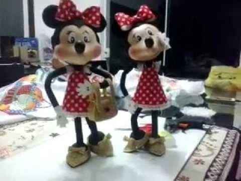 Mickey esculpido em eva 3d parte I - YouTube