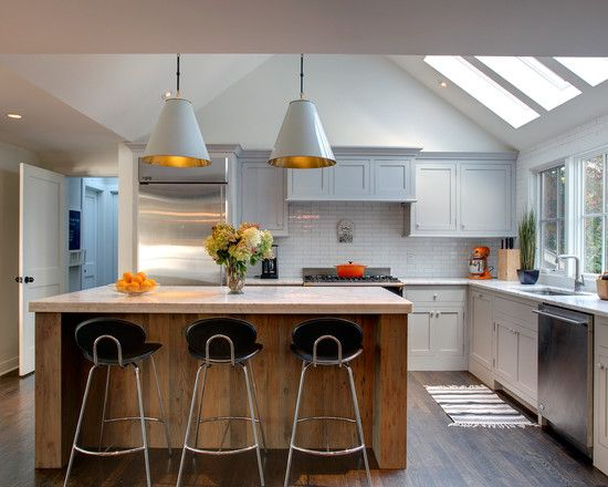 Ooooo nice kitchen ideas pinterest nice skylights for Nice modern kitchens