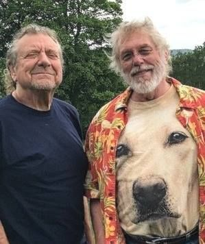 Robert Plant with author Kent Nerburn, 1 June 2017, Wales