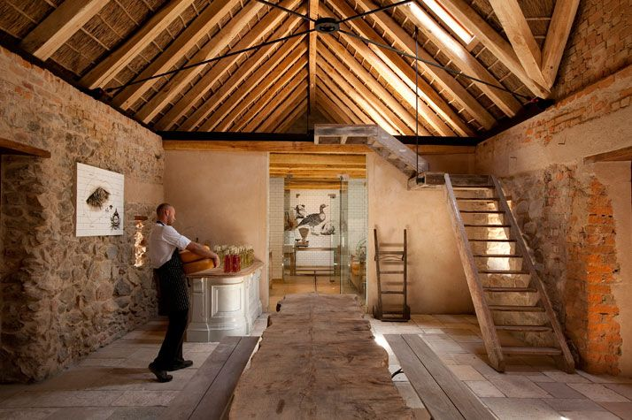 """""""Babylonstoren"""" in South Africa. The Wine tasting space, the bakery, the cheese & charcuterie shop and the Garden Spa."""