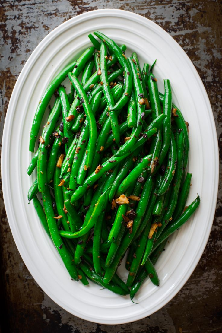 Dirty Green Beans with Fermented Black Beans via healthyseasonalrecipes.com