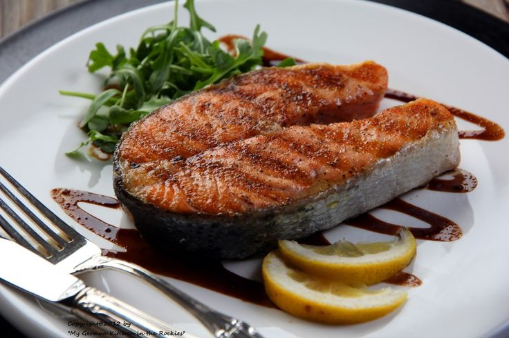 Salmon,balsamic Glaze,balsamic vinegar,sustainable fish,seafood guide Colorado Denver Foodblog German recipes My Kitchen in the Rockies | A Denver, Colorado Food Blog
