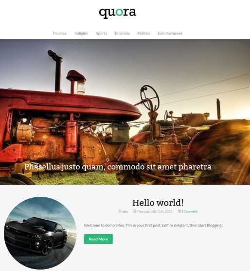 Best Free WordPress Themes 2014