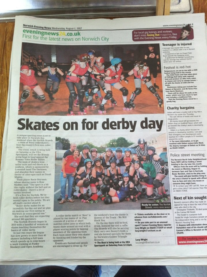 Awesome! The Norfolk Brawds v Romsey Town Roller billys 2012
