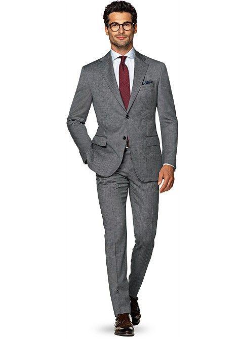 Suit Grey Plain Napoli P4912 | Suitsupply Online Store