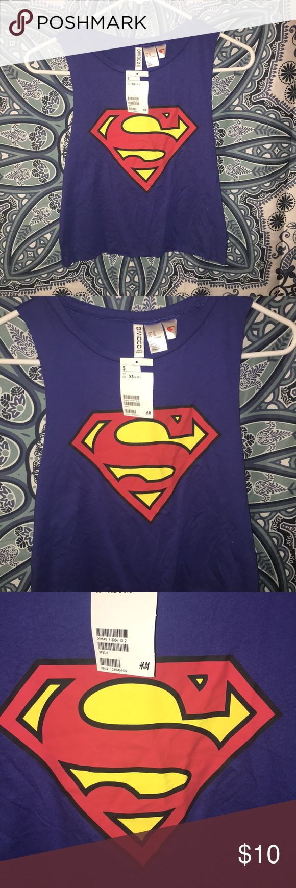 NWT H&M DIVIDED Superman tank top size XS H&M Divided tank crop top. Size XS.  Brand NWT Divided Tops Muscle Tees
