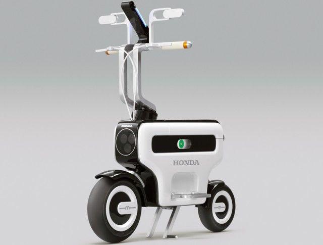 Honda Motor Foldable Electric Scooter transport high tech environmental honda foldable vehicle Environnement electric design index design concept