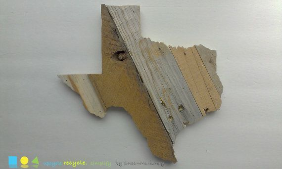 15x14 Texas wall art Reclaimed wood state art by SusanMarieMay