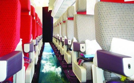 Virgin Atlantic glass-bottomed plane