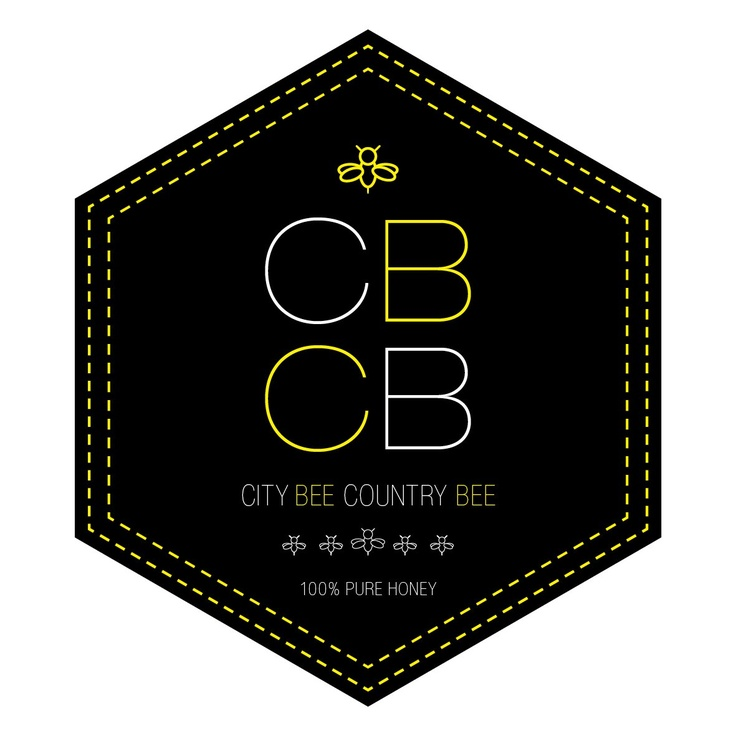 City Bee // Country Bee honey logo designed for premium, local Queensland honey by Piece x Peace www.piecexpeace.com
