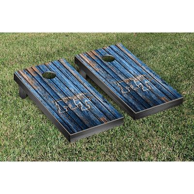 Victory Tailgate NCAA Weathered Version Corona Cornhole Game Set NCAA Team: Middle Tennessee Blue Raiders