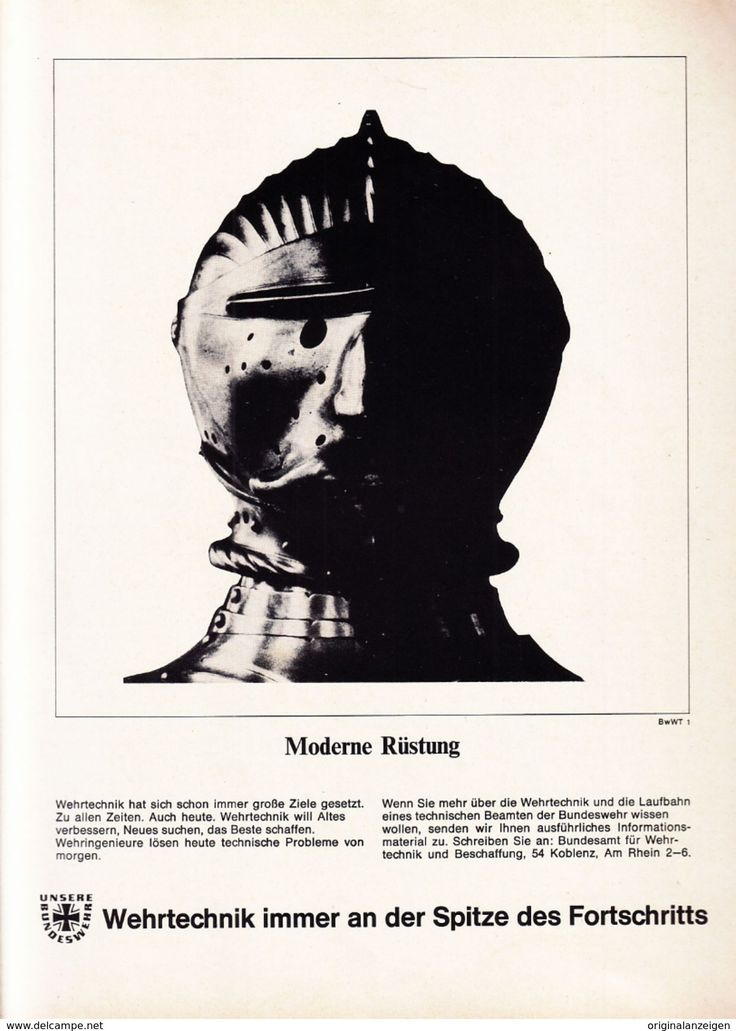 Werbung - Original-Werbung/ Anzeige 1966 - BUNDESWEHR / MOTIV RITTERRÜSTUNG - ca. 200 x 280 mm