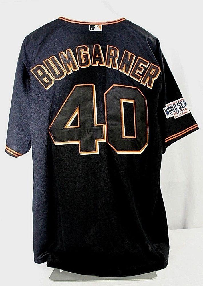 new products 71cf8 05510 San Francisco Giants Bumgarner #40 Black Jersey Majestic ...