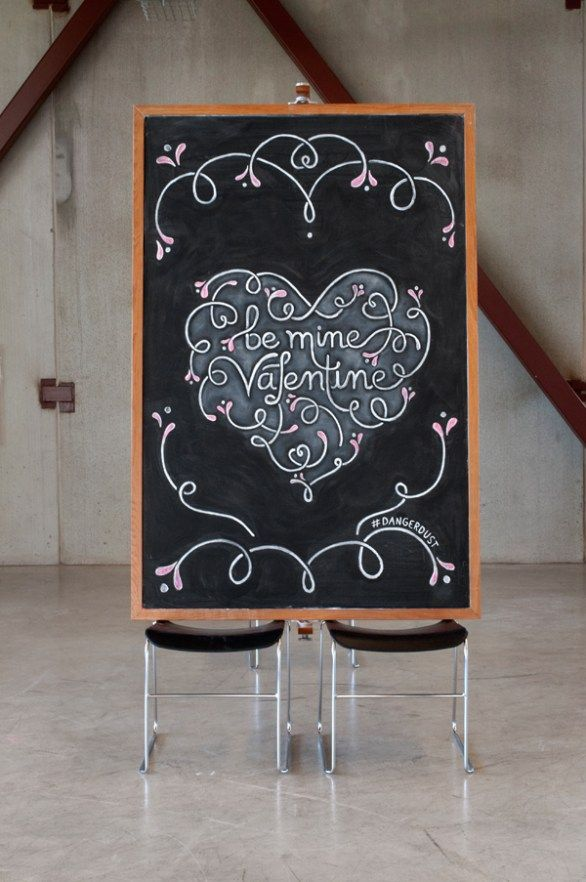 Two anonymous students, known as DangerDust enchant us with their handcrafted chalkboard typography.