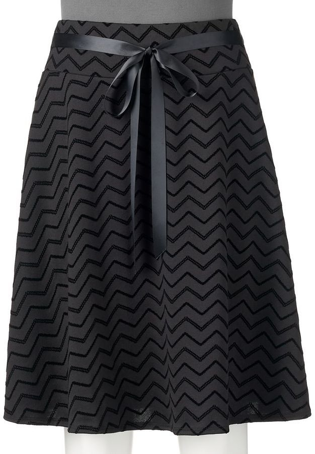 Juniors' Joe B Chevron Midi Skirt