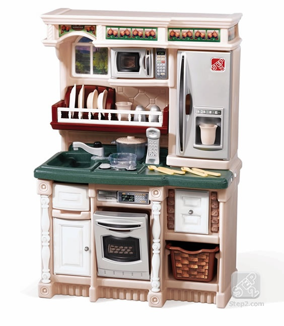 Kid kitchen of my dreams! It's not too big, and has it all!!