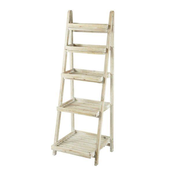 FLORENTINE whitewashed wood ladder ...