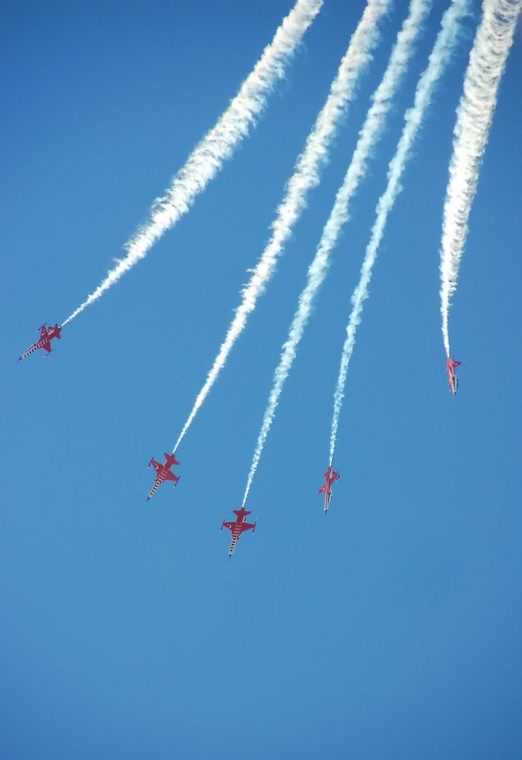 after a loop ,turkish stars start to go down and break the close formation