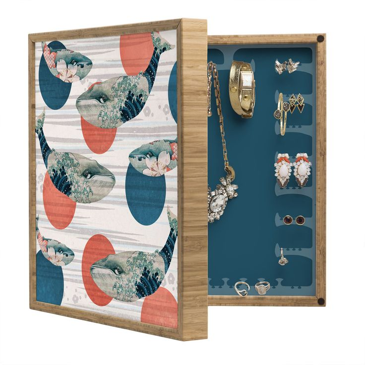 Belle13 Blue Whale Polka BlingBox Petite   DENY Designs Home Accessories