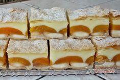 Pudingos-barackos krémes finomság piskótával, leveles tésztából | TopReceptek.hu