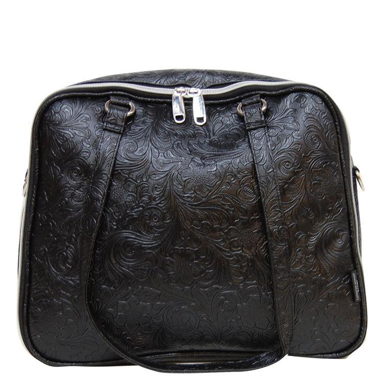Travel Caddy - Black Fleur De Lis - Catherine Manuell Design
