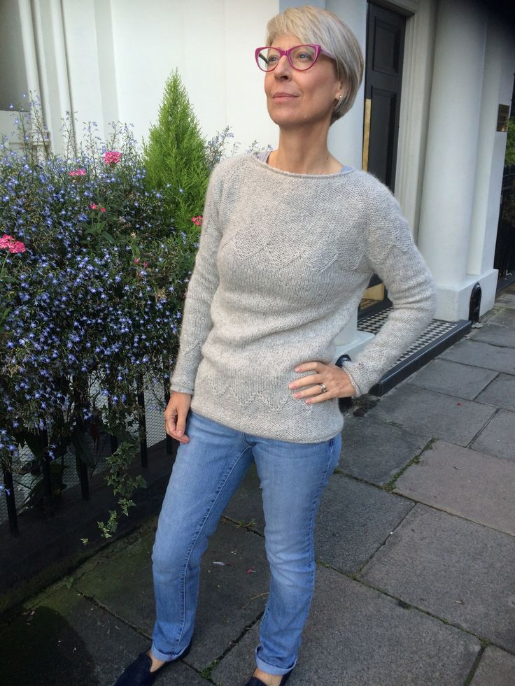 Lorelle Knitted Jumper made by Kate Davies