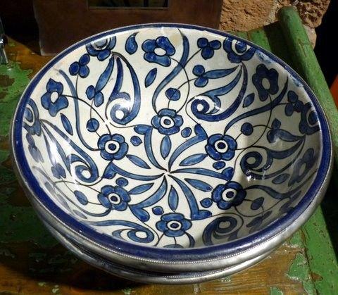Moroccan vintage ceramic bowl.
