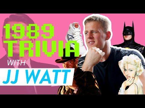 Houston Texans Defensive End JJ Watt Answers 1980s Trivia - YouTube