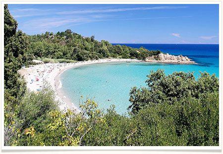 Photo de la plage de Canella à proximité du Camping La Vetta à Porto-Vecchio en Corse du Sud.