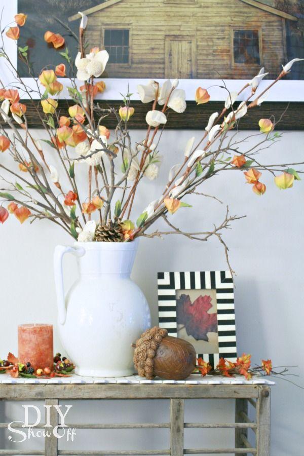 Fall decorating at diyshowoff.com #falldecor