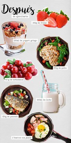 Alimentos para después de ejercitarte   #BlogAndrea